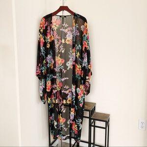 Rehab Long Floral Kimono.